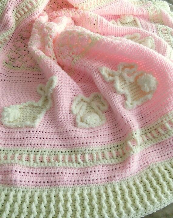Marshmallow Crochet Baby Blanket Pattern : Digital Pattern - Marshmallow Bunnies Crochet Baby Afghan ...