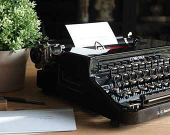 Custom Quote Typed on Vintage Typewriter - Personalized Quote - Typed Quote - Typewriter Art