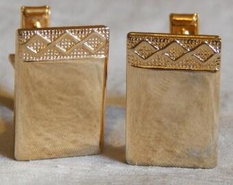 Vintage Dress Cufflinks - Gold