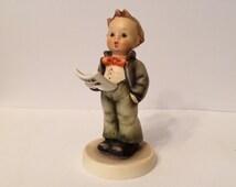 Boy Singing Songs Hummel, Lighting The Way Hummel, Rare Collectible, Beautiful Collectible, Hummel Figurine, Vintage Hummel Collectible