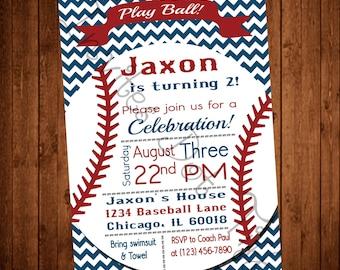 Vintage Themed Printable Baseball Birthday Invitation