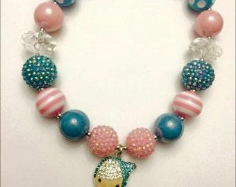 SALE----Cinderella insiped chunky bubblegum necklace{ Bippity Boppity Boo}