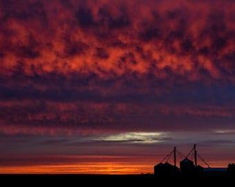 Sunrise Over Illinois Farmland