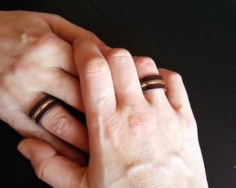 Kuma leather ring. Customize your wedding ring