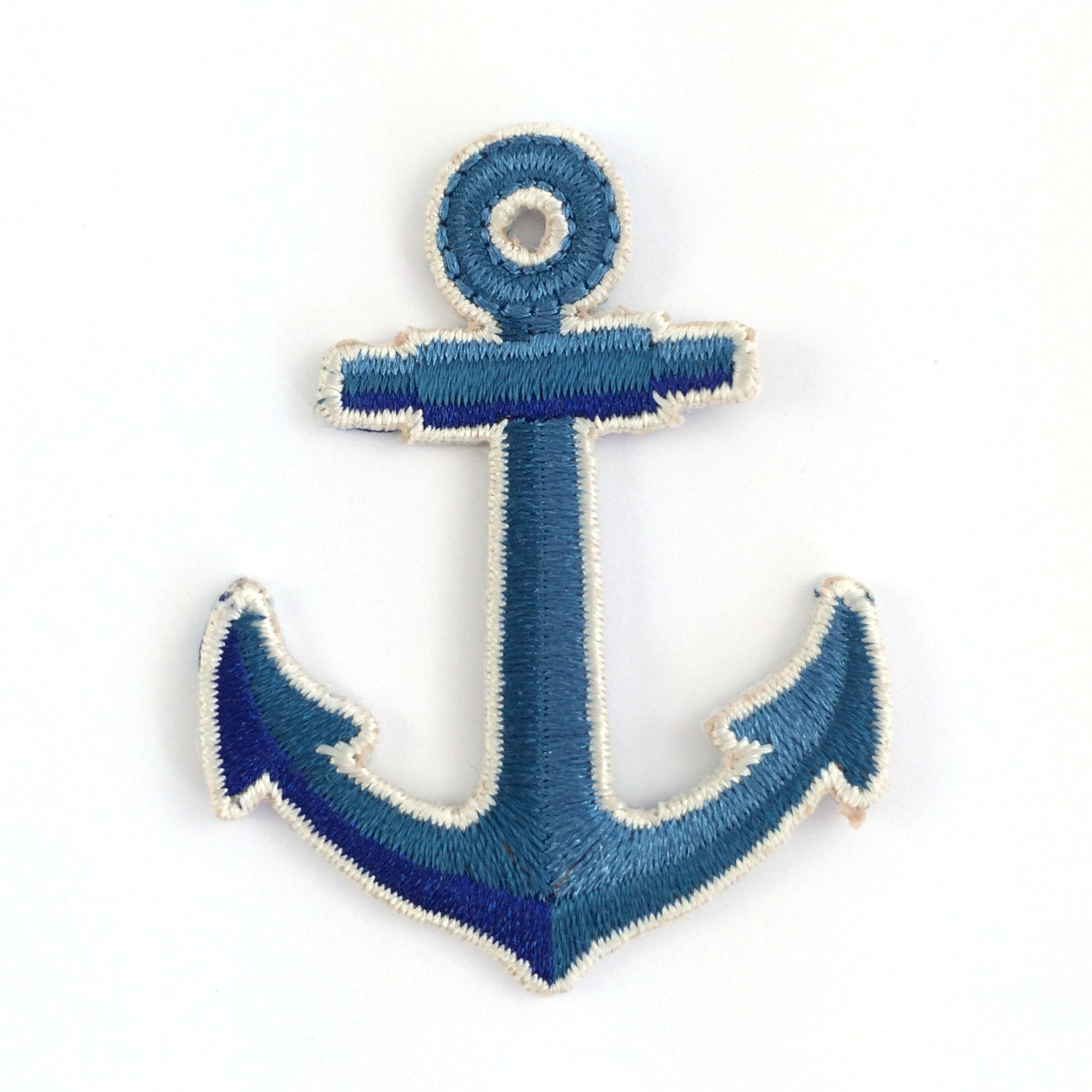 Sale off anchor patch iron on embroidered applique