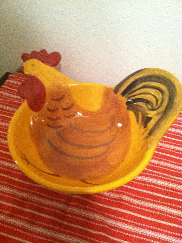 Kitchen Chicken Bowl For Decor Or Fruit Bowl