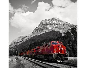 cp rail train in Field BC. photographic  art print