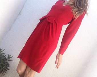 Guy Laroche red vintage dress elegant