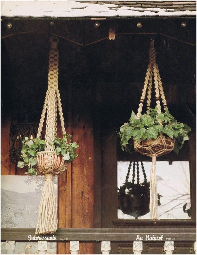 2 Macrame Patterns Vintage 70s Vintage Macrame Plant Hanger Macrame Planter Wedding Decor Bohemian Home Decor