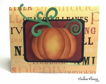 Set of 2 Handmade Fall Harvest Cards