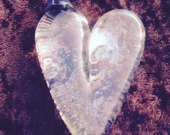 Boro glass heart
