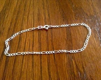 143} 925 Figuro Chain 8 inches long