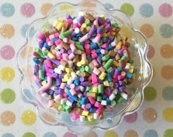 10 grams - Pastel Fake Sprinkles - Decoden Clay Sprinkles