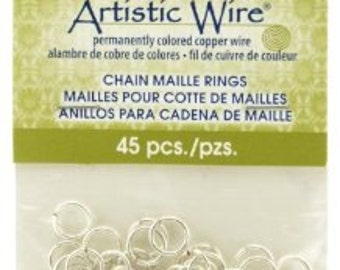Artistic Wire Chain Maille Jump Rings - 18 Gauge - Dia 5.95