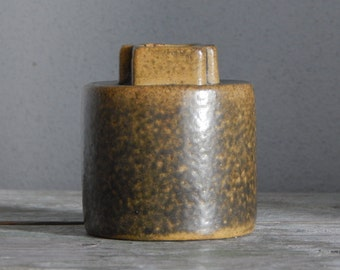 Soviet Vintage Ceramic Vase Brown Beige Vase Made in USSR Soviet Estonia