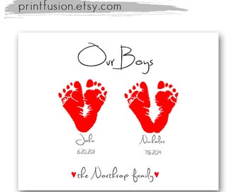 baby footprint art fathers day gifts grandpa mothers day gift grandma personalized gifts mom baby keepsake gift inkless grandparent gift