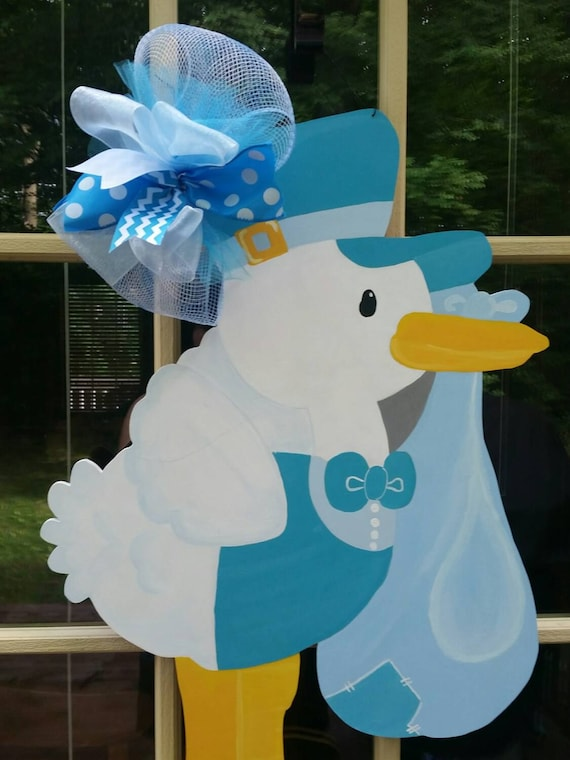Hospital door hanger baby shower door hanger its a by for Baby boy hospital door decoration