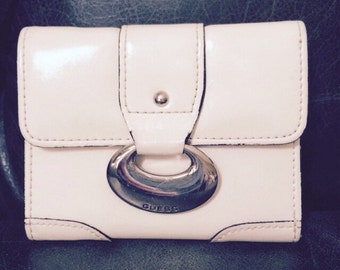 Vintage Guess Wallet, Leather Wallet, White Wallet, Guess Leather Wallet, Vintage Wallets, Guess Wallet, Guess Wallets
