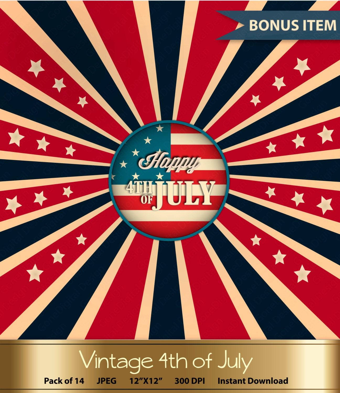 vintage fourth of july digital paper patriotic by gonedigital. Black Bedroom Furniture Sets. Home Design Ideas