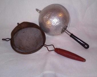 Vintage Kitchen Strainers