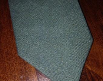 Hemp/skinny tie/emerald