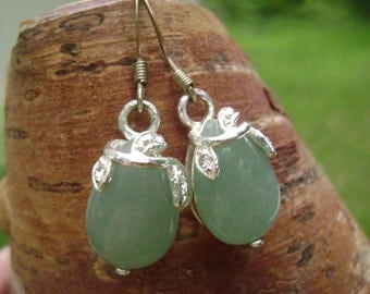Silver and Aventurine earrings