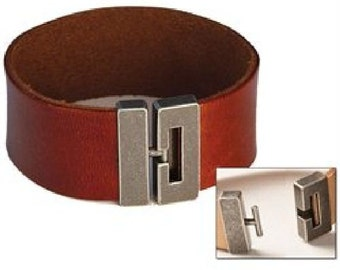 "Bracelet Connector 5/8"" (16 mm) Antique Nickel Finish 7001-01"