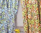"Sunflower Fabric, Sunflower Printed, 43""x35"", Cotton 20s, Sunflower Pattern, Flower Fabric, Floral Fabric, 2 Color - KoreaBacol"