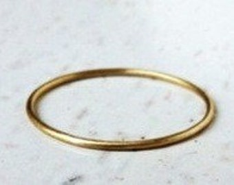 1mm Round 14K Yellow Gold Wedding Band Delicate Ring,Wedding Band,14K Solid Gold Wedding Band,Wedding rings,Skinny Women Ring,Stacking Rings