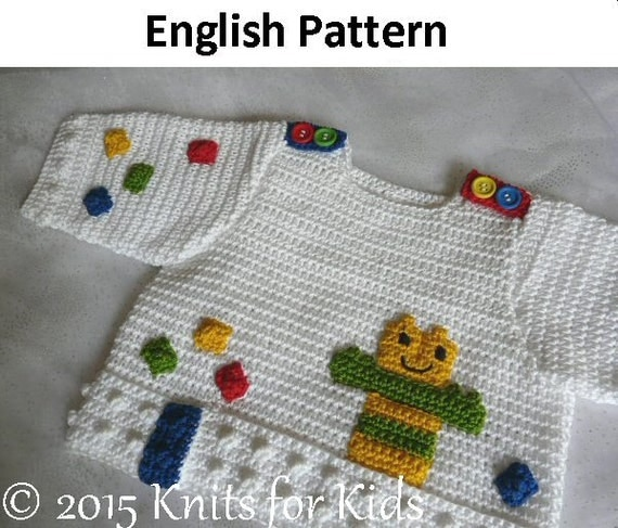 Crochet Patterns In English : English Crochet Pattern Baby Sweater Building by ...