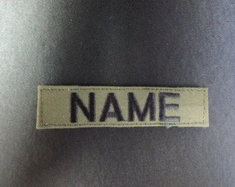 Military Style Name Tags With Velcro in Olive green ,Black Or Khaki