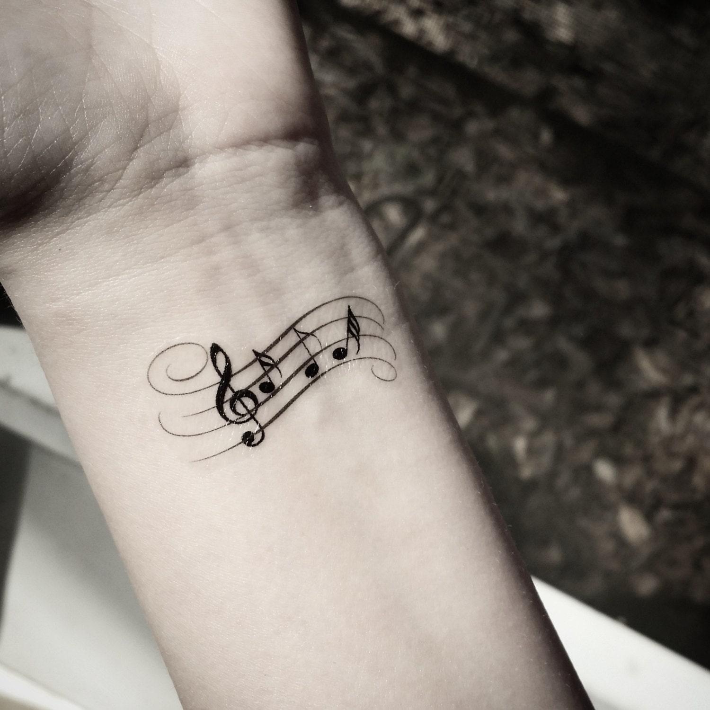 Music note tattoo Temporary tattoos music by SharonHArtDesigns