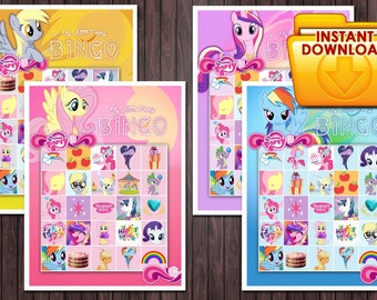 My little pony printable Bingo Game Birthday Party - Custom DIY