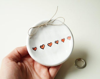 Modern Ring Bearer Pillow, Ceramic Ring Dish, Wedding Ring Holder, Wedding Ring Plate, Wedding Ring Bearer, Ceramics and Pottery
