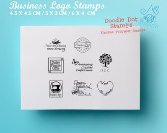 Custom stamp - Business logo stamp - Polymer stamp - Personalised stamp