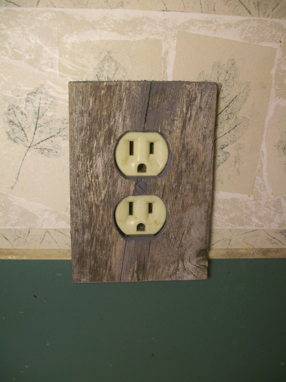 Weathered Wood Outlet Cover Outlet Cover Unique by JRWoodArt
