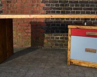 "Desk solid wood from historic planks ""Demanding Altona"""