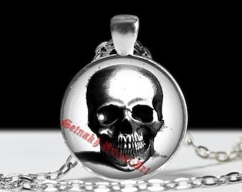 Skull pendant, skeleton jewelry, occult anatony, biology jewellery, human bones, scary halloween accessories, horror necklace, death #29