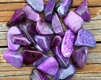 "1 One SUGILITE Tumbled Crystal Healing Stone 1/2"" to 3/4"" ~ For Jewelry, Crafts, Wire Wrapping"