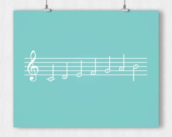 Music Notes - Print