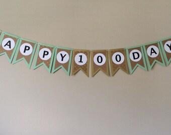 3 Custom Korean Happy 100 Days Banners