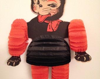 Vintage Honey Comb Halloween Cat