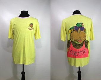 Amazing 80's Exactus Neon Gorilla Tee