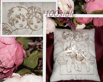 Rings bearer pillows Embroidery Weddings