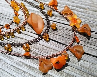 Sunrise Lucite Flower Necklace