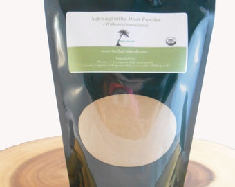 Ashwagandha Root Powder - Organic - Indian Ginseng, Withania Somnifera