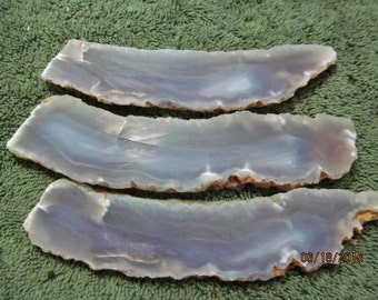 Purple Agate Slabs  from  Indonesia (3 Pc. Lot).