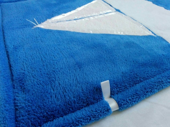 Padded Travel Play Mat Blue Sailboat Floor Blanket Tummy