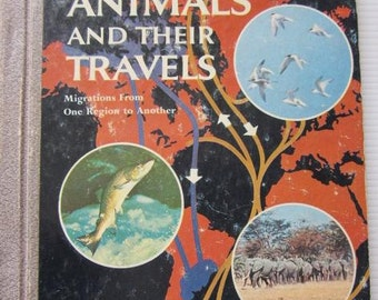 Animals And Their Travels GOLDEN LIBRARY of Knowledge 1959 Golden Press Vintage Children's Book