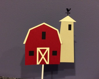 Country barn cake topper
